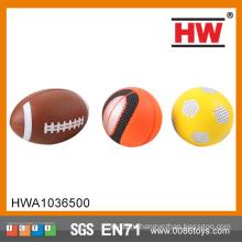 Забавная игрушка Стресс-мяч Регби-футбол баскетбол PU Спорт играть в мяч
