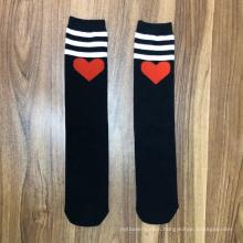 teen student striped tube socks customised school socks black