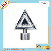 home decorative triangle fancy design flat curtain rods with diamond finial