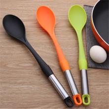 Mezcla larga cuchara de cocina ensalada cuchara de nylon barata