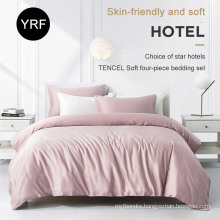 Luxe 5 Star Nice Quality Queen Size Softest Pink Hotel Bedding