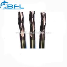 Broca de herramienta de cortador de desbaste de fresado CNC BFL, molino de extremo rugoso