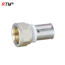 B 4 13 high quality female tube press fitting gas pipe compression fittings
