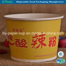 Tigelas de papel para macarrão em material sólido
