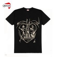 Men′s Printed Round Collar T-Shirts (HF02)