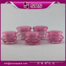 Unique Shape Beautiful Jars Containers Plastic Cosmetic Packing
