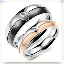 Crystal Jewelry Fashion Accessories Stainless Steel Ring (SR804)
