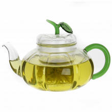 Borosilicate Pumpkin Glass Teapot With Glass Infuser