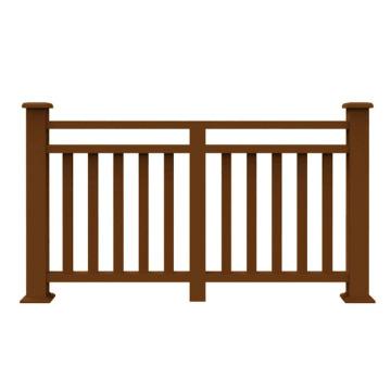 Garden park baluster wpc handrail UV resistant outdoor stair railing