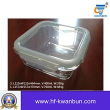 Caixa de vidro transparente com vidro de tampa de plástico para cozinha Kb-Jh06092