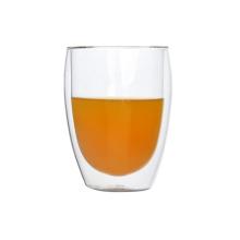 Bulk Handgeblasen Borosilikat Doppelwand Glas Tasse