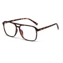 Double Bridge Eyeglass Frames TR90 Big Eyeglass Frames Prescription Optical Glasses