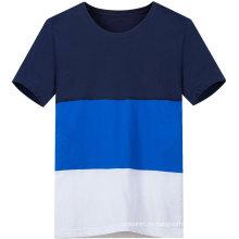 Das beiläufige kundenspezifische drei Farbe-Kontrast-T-Shirt der Männer