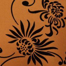 Tecido de flocagem de poliéster Flores e grades