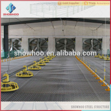 Light steel structure prefab poultry chicken farm house shed design