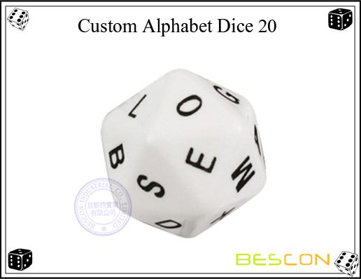 Custom Alphabet Dice 20