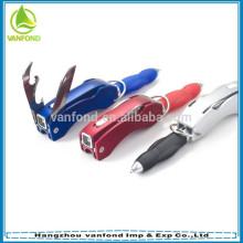 Plastic folding multifunctional tool ballpoint pen