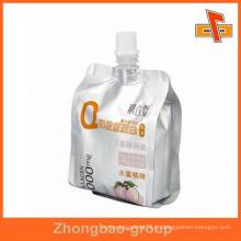 Resealable alimentos grau levantar-se mel embalagem bico bolsa