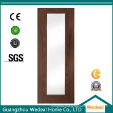High Quality Glazed Flush Wooden Veneer Door Manufacturer From China
