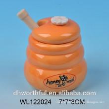 150 ml small size ceramic honey jar