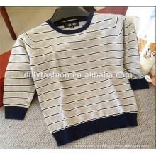 простой вязаный полосатый дизайн мальчиков свитер детский джемпер