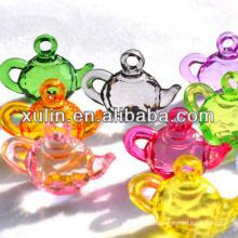 wholesale transparent mixed color acrylic teapot pendants ornaments