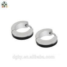 Nova quente prata brincos anéis piercing hoop brincos