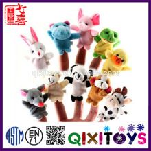 Realistic plush mini animal finger puppets hand puppets cute baby toys educational made in China