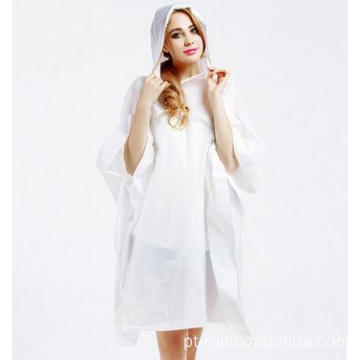 Hooded Clear Plastic Ladies Rain Poncho
