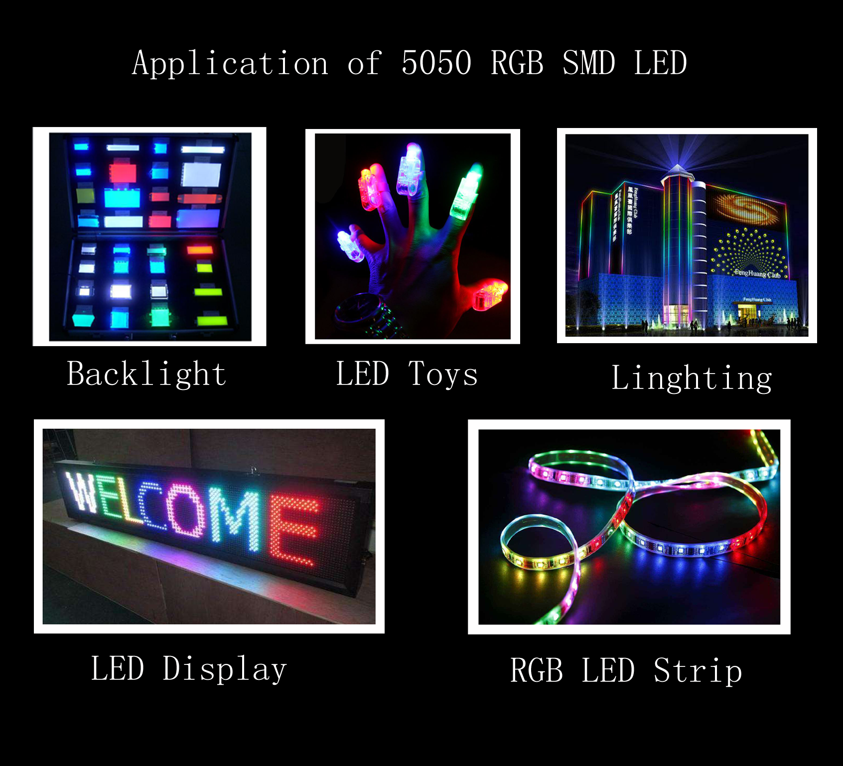 application of rgb