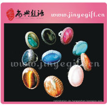 Shangdian Hand Craft Cultral Crochet Big Gemstone Ring