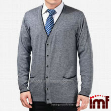 Latest Fashion Long Sleeve Solid Color Cardigan For Father