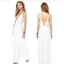 OEM Frauen kleidet 2015 Langarm Mode Maxi Kleid