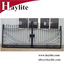 Venta caliente ornamental moderna puerta de hierro fundido