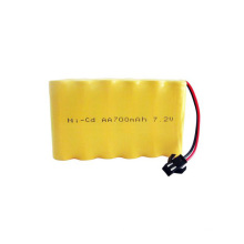 Ni-CD 7.2V Rechargeable AA Battery 400mAh 600mAh 700mAh NiCd Battery Pack
