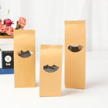 Customize Fashion Recyclable Food  Brown Kraft Paper Bag with Logo Printing Available