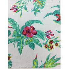 Lino / rayón mezclado flor impresa tela para ropa, sofá, amortiguador