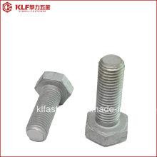 ASTM A325 A490 B7 DIN931 HDG Parafusos hexagonais de alta resistência