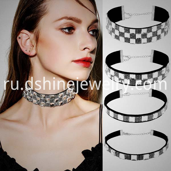 Rhinestones Necklace Choker