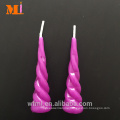 Professional Service Purple Unicorn Horn Birthday Candle For Cake