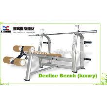 Plate Loaded Fitnessgeräte Typ Gewicht Liftinng Ablehnen Bank (Luxus) / Rückgang Brustpresse in China hergestellt
