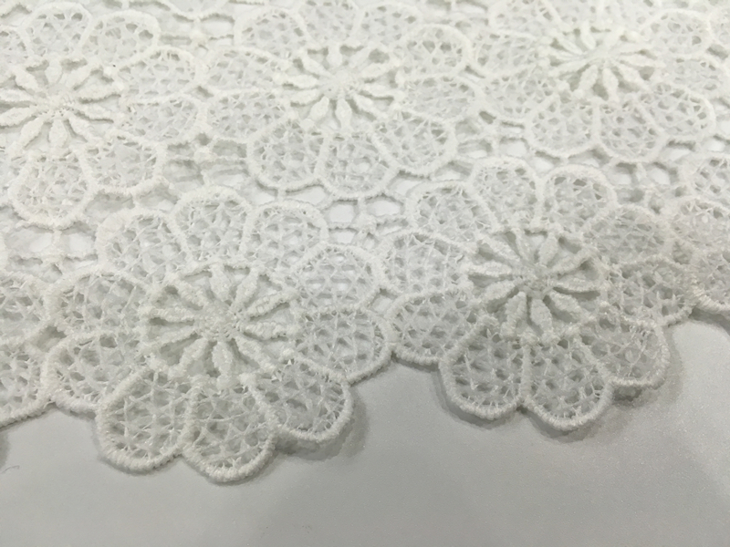 White Chemical Lace Fabric