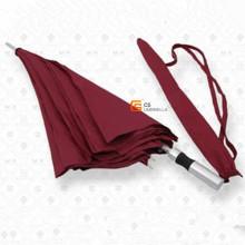 Weiße Rippen Fiberglas und Aluminium Welle rot Golfschirm (YS-G1005A)