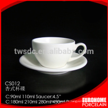 new design procelain wholesale stock porcelain coffee cup for hotel
