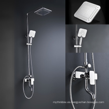 Válvula de cuerpo de grifo de la ducha de latón encubierta Mezclador cuadrado de ducha de baño para el baño sistema de ducha