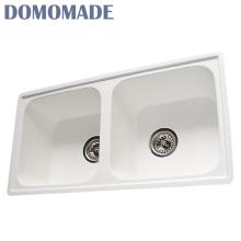 Wholesale artificial stone double sink bathroom vanity