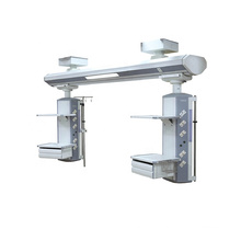 Surgical double arm Ceiling Mounted ICU Surgery Gas Operation Bridge Pendant