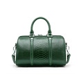 Tote Bags Boston Handbag in pelle di coccodrillo verde