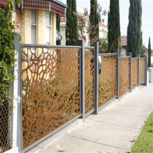 Rusty Steel Fence Screening Panels