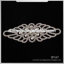 Ferro em vestido de noiva vestido de noiva de cristal apliques de strass, China Wholesale Applique